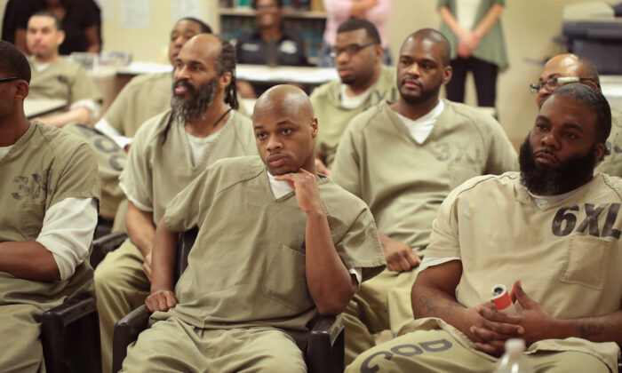 Inmates at the Cook County Jail in Chicago on May 17, 2017. (Scott Olson/Getty Images)