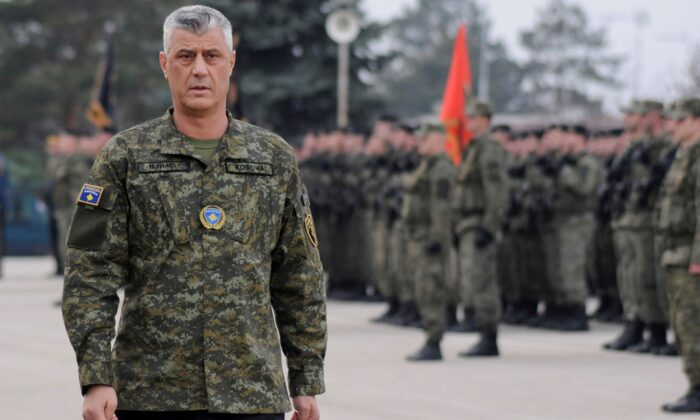 Kosovo's President Hashim Thaci attends a ceremony of the security forces, in Pristina, Kosovo, on Dec. 13, 2018. (Laura Hasani/Reuters)