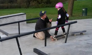 Mom Shares 20-Year-Old Skater's Interaction With Her 6-Year-Old Daughter at Skate Park on Facebook