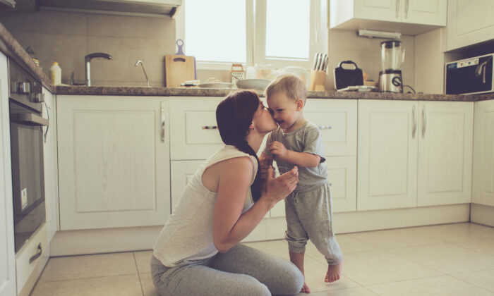 Research strongly suggests that having a single caretaker at home during children's first two or three years of life is beneficial to their development. (Alena Ozerova/Shutterstock)