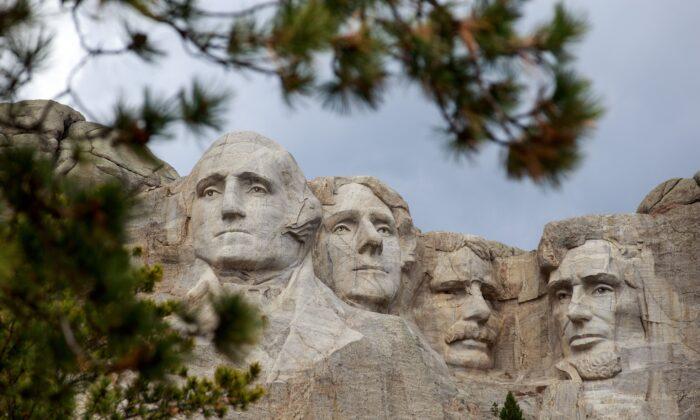 Mount Rushmore National Memorial in Keystone, S.D., on April 23, 2020. (Kerem Yucel/AFP via Getty Images)