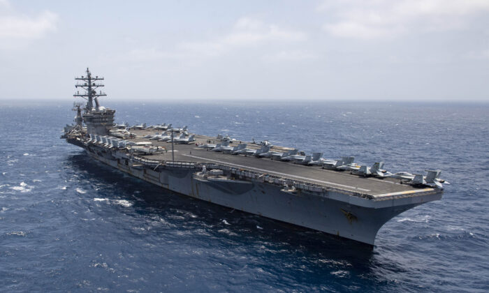 The aircraft carrier USS Dwight D. Eisenhower (CVN 69) transits the Arabian Sea, June 12, 2020. (U.S. Navy photo by Mass Communication Specialist 1st Class Aaron Bewkes/Released)