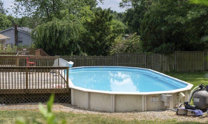 The pool behind   in East Brunswick, N.J., on June 23, 2020. (Alexander Lewis/The Asbury Park Press via AP)