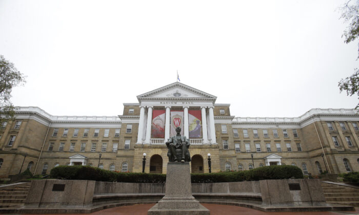 An outside view of Bascom Hall on the campus of the University of Wisconsin in Madison, Wisconsin. (Mike McGinnis/Getty Images)