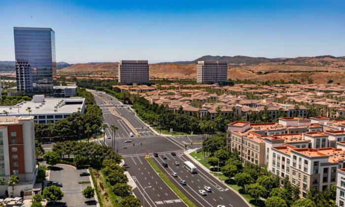 A view of Irvine, in Orange County, Calif., on June 26, 2020. (John Fredricks/The Epoch Times)