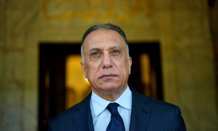 Iraqi Prime Minister Mustafa al-Kadhimi at the prime minister's office in Baghdad, Iraq, on June 4, 2020. (Iraqi Prime Minister Media Office/Handout via Reuters)