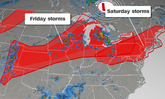 Over 80 Million Americans Under Threat of Severe Storms Friday and Saturday