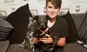 Six-Legged Dog Finds Forever Home With a Bullied Teen: 'Love at First Sight'