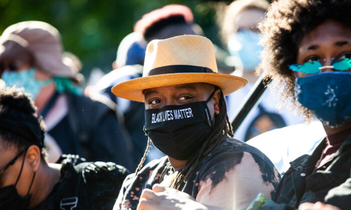 People attend a march in support of Black Lives Matter in Chicago, Ill., on June 14, 2020. (Natasha Moustache/Getty Images)