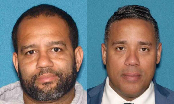 Paterson City Councilman Michael Jackson (L) and Paterson Councilman-elect Alex Mendez in undated mugshots. (New Jersey Attorney General's Office)