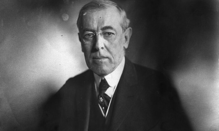 The 28th President of the United States Woodrow Wilson in a 1916 photograph. (Tony Essex/Hulton Archive/Getty Images)