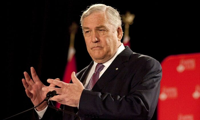 Conrad Black speaks at a luncheon at the Empire Club in Toronto on June 22, 2012. Today, Canada's best columnists on matters political and economic are in their 70s. (The Canadian Press/Chris Young)