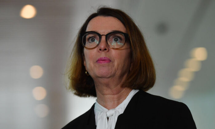 Minister for Families and Social Services Anne Ruston during a press conference at Parliament House on March 24, 2020 in Canberra, Australia. (Sam Mooy/Getty Images)
