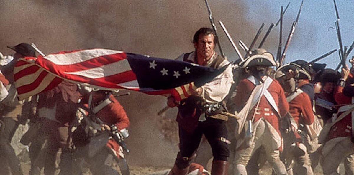 """Man carrying flag in """"The Patriot"""""""