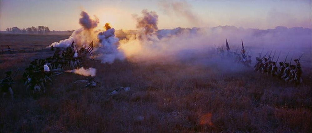 """field of battle with cannon smoke in """"The Patriot"""""""