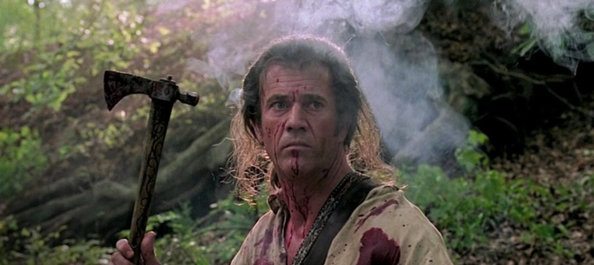 """man with bloody face and tomahawk in """"The Patriot"""""""