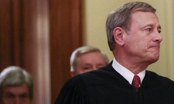 Supreme Court Chief Justice John Roberts in Washington on Feb. 5, 2020. (Mario Tama/Getty Images)