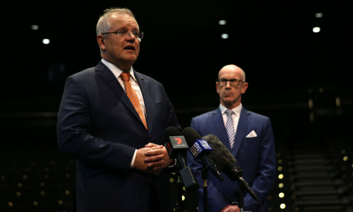 Australian Prime Minister Scott Morrison speaks during a press conference in Sydney, Australia on June 25, 2020. (Matt Blyth/Getty Images)