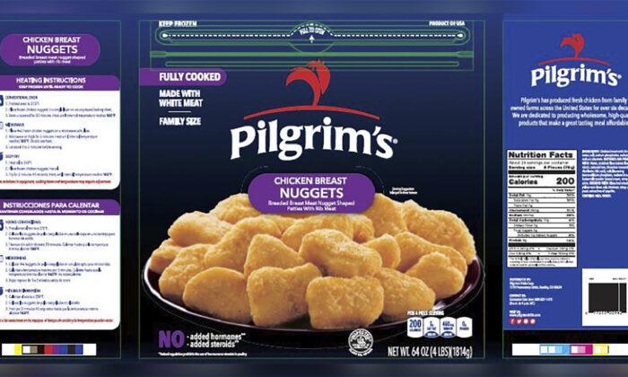 Pilgrim's Pride chicken nuggets. (USDA Food Safety and Inspection Service)