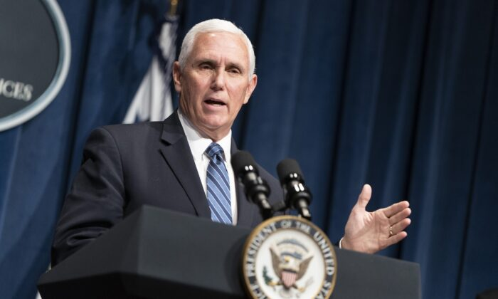 Vice President Mike Pence speaks at the Department of Health and Human Services in Washington on June 26, 2020. (Joshua Roberts/Getty Images)
