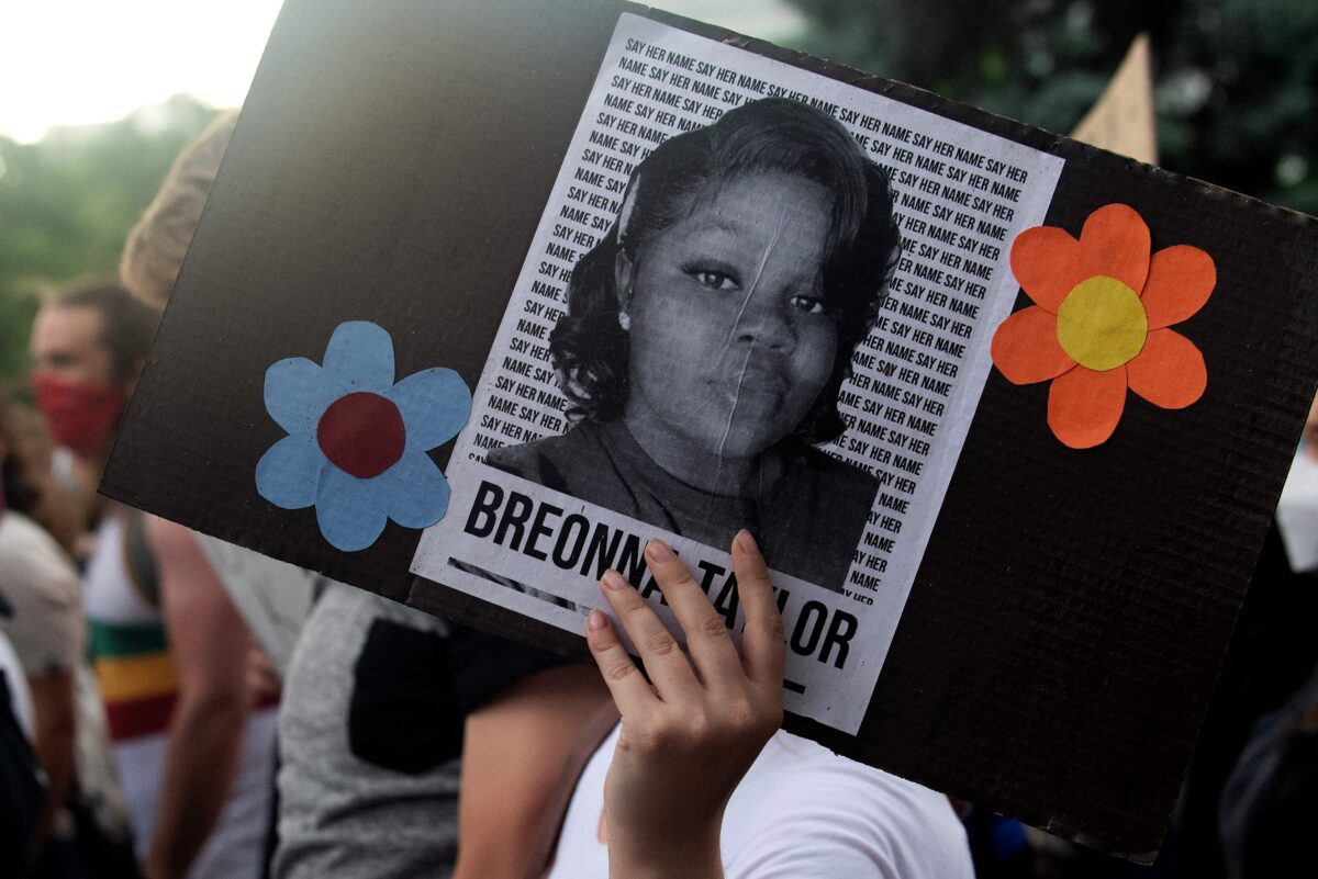 Dozens of Protesters Calling for Justice for Breonna...