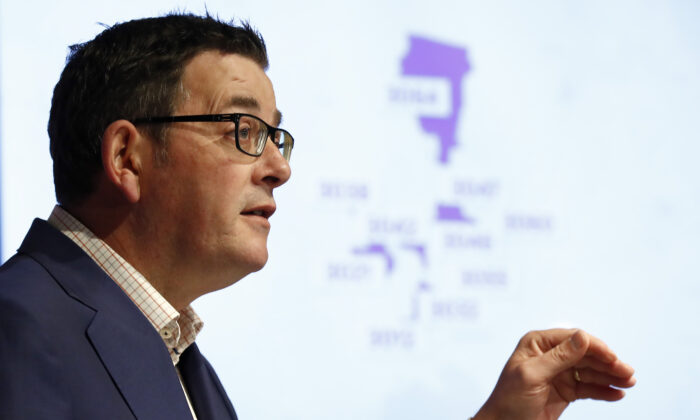 Victorian premier Daniel Andrews speaks to the media in Melbourne, Australia on June 30, 2020. (Darrian Traynor/Getty Images)