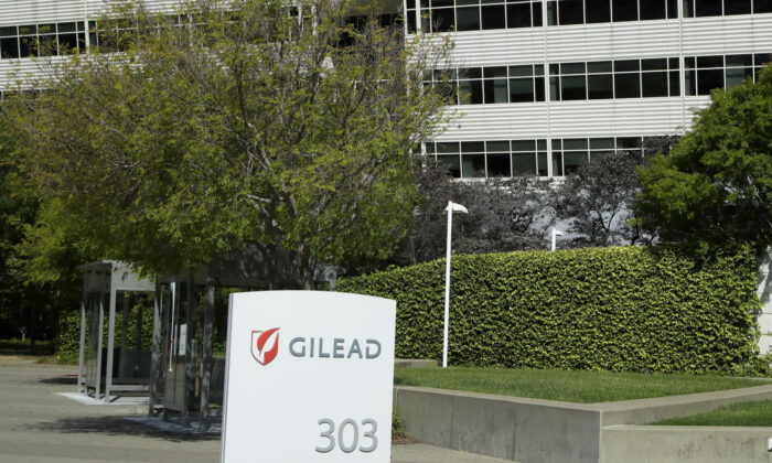 Gilead Sciences headquarters in Foster City, Calif. on April 30, 2020. (Ben Margot/AP)