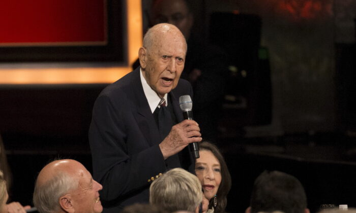 Actor Carl Reiner speaks at the American Film Institute's 43rd Life Achievement Award at the Dolby theatre in Hollywood, Calif., on June 4, 2015. (Mario Anzuoni/Reuters)