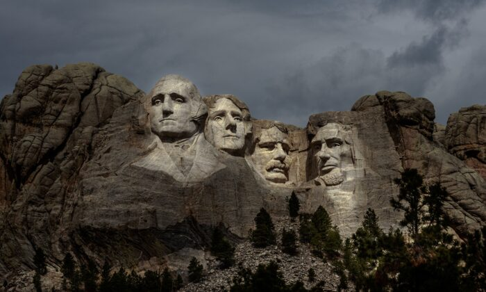 The Mount Rushmore National Memorial in Keystone, S.D., in an April 23, 2020, file photograph. (Kerem Yucel/AFP via Getty Images)