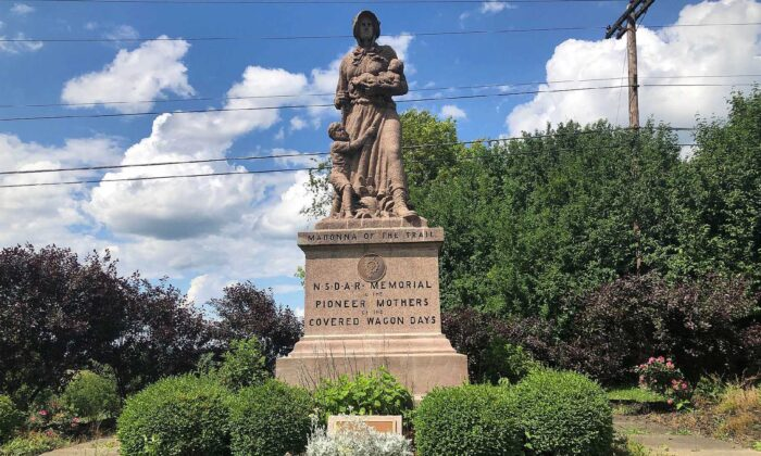 The monument Madonna of the Trail. (Salena Zito)