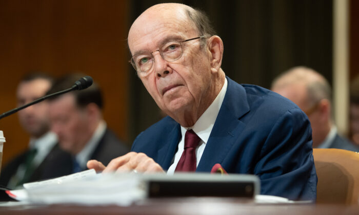 Secretary of Commerce Wilbur Ross at a hearing on Capitol Hill in Washington on March 5, 2020. (Saul Loeb/AFP via Getty Images)