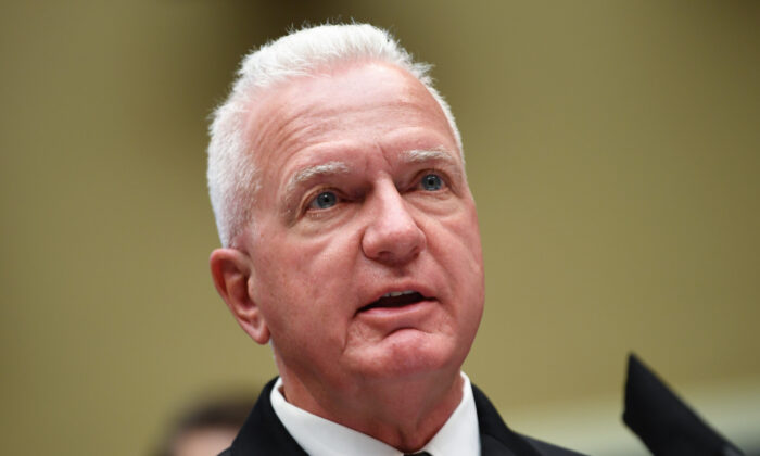 Adm. Brett Giroir, assistant secretary for health, testifies at a hearing of the House Committee on Energy and Commerce on Capitol Hill in Washington on June 23, 2020. (Kevin Dietsch-Pool/Getty Images)