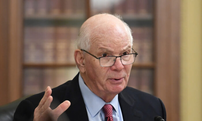 Sen. Ben Cardin (D-Md) speaks at a hearing in Capitol Hill, Washington, on June 10, 2020. (Kevin Dietsch/Pool/Getty Images)