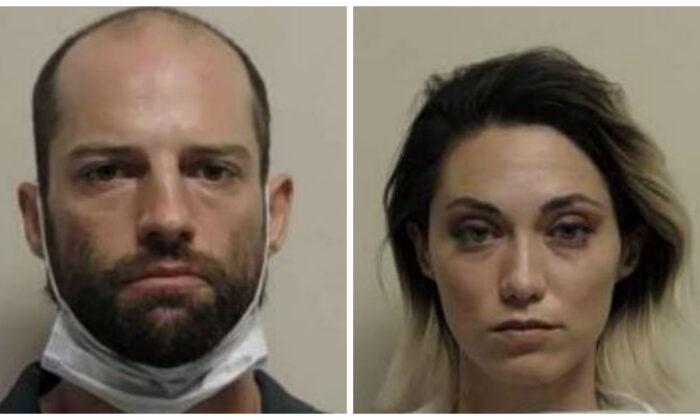 Jesse Taggart, left, and Samantha Darling were arrested in connection with a shooting in Provo, Utah, on June 29, 2020. (Provo Police Department)