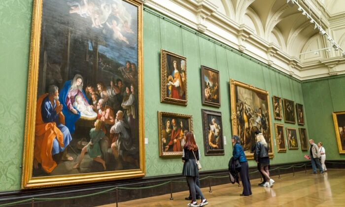 Italian paintings, 17th century, in The National Gallery, London. (Alex Segre/Shutterstock)