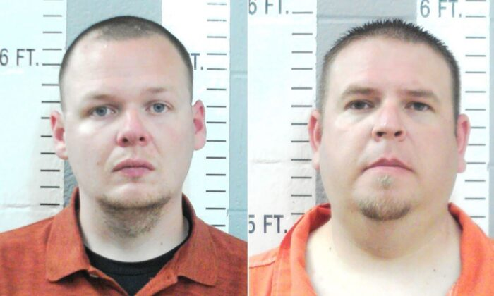 Officers Joshua Taylor (L) and Brandon Dingman of the Wilson Police Department in Oklahoma were charged in the death of Jared Lakey. (Courtesy of Oklahoma State Bureau of Investigation)