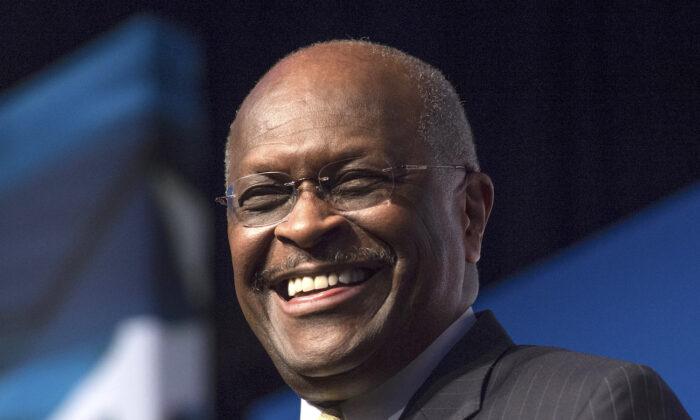 Herman Cain speaks in Washington on June 20, 2014. (Molly Riley/AP Photo)