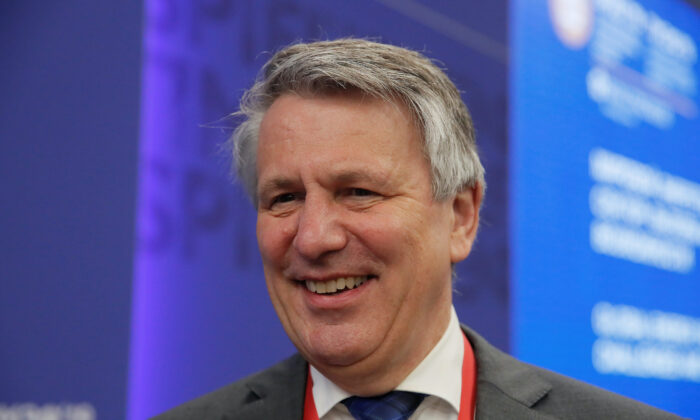 Chief Executive Officer of Royal Dutch Shell Ben van Beurden attends a session of the St. Petersburg International Economic Forum in Russia on June 7, 2019. (Maxim Shemetov/Reuters)