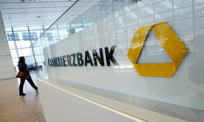 The headquarters of Germany's Commerzbank AG, Frankfurt, Germany, on Feb. 13, 2020. (Ralph Orlowski/Reuters)