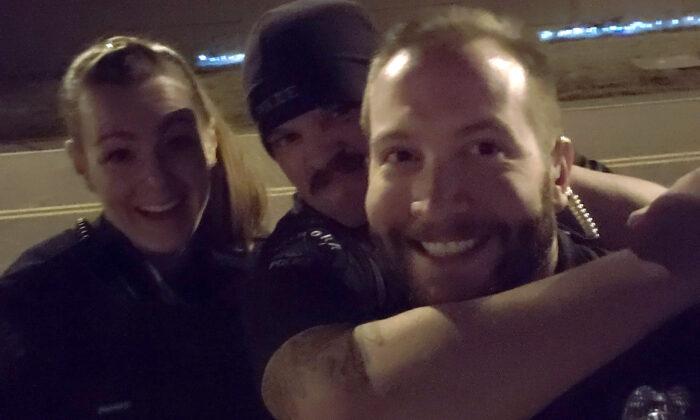 (L-R) Officers Erica Marrero, Jaron Jones, and Kyle Dittrich in Aurora, Colo. (Aurora Police Department via AP)