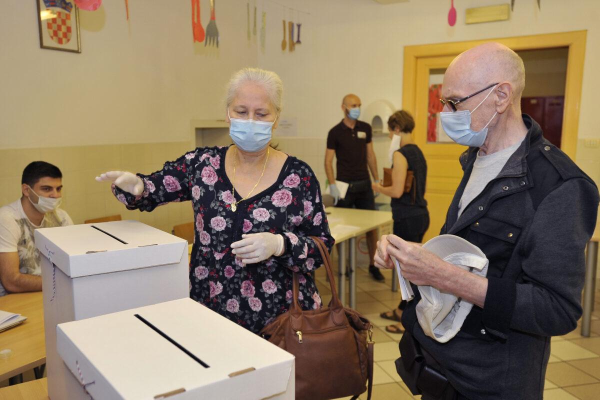 Voters cast ballots in Croatia
