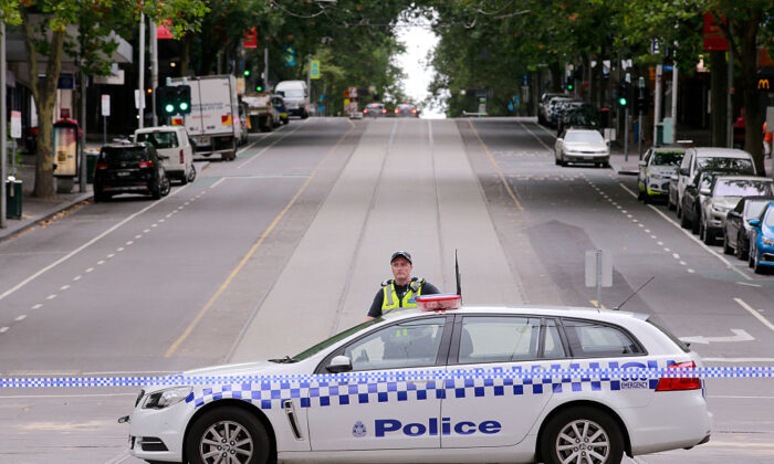 Police at Bourke Street Mall in the CBD on January 21, 2017 in Melbourne, Australia. (Wayne Taylor/Getty Images)