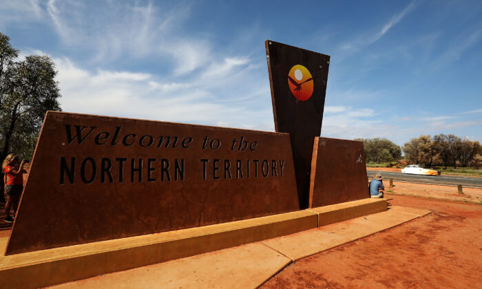 Border from the Northern Territry into South Australia, Kulgera, Australia on October 10, 2017. (Mark Kolbe/Getty Images for SATC)