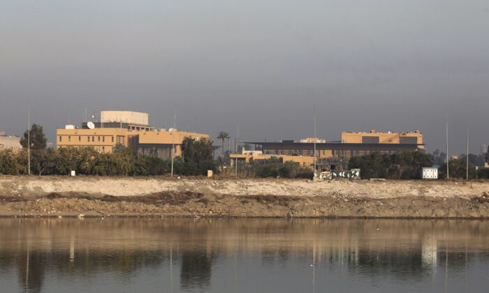A general view shows the U.S. embassy across the Tigris river in Iraq's capital Baghdad, Iraq, on Jan. 3, 2020. (Ahmad Al-Rubaye/AFP via Getty Images)