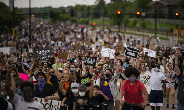A file photo of Black Lives Matter protesters. (Stephen Maturen/Getty Images)