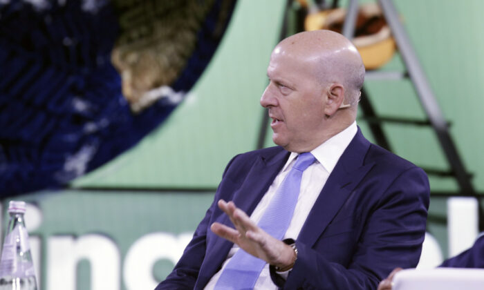 David Solomon, chairman & CEO of Goldman Sachs speaks during the Bloomberg Global Business Forum  in New York on Sept. 25, 2019. (Kena Betancur/AFP via Getty Images)