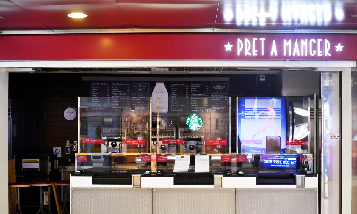 screens Pret a Manger london