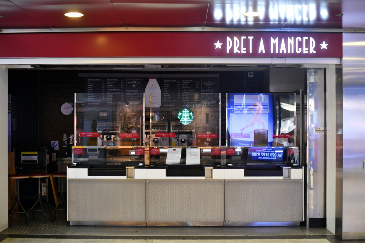 screens Pret a Manger london