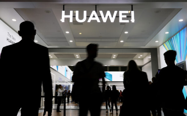 The Huawei logo is pictured at the IFA consumer tech fair in Berlin, Germany, Sep. 6, 2019. (Hannibal Hanschke/Reuters)