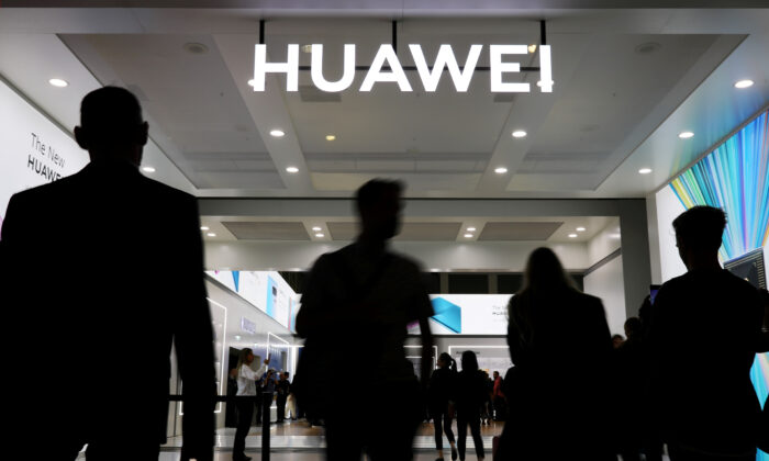 The Huawei logo is pictured at the IFA consumer tech fair in Berlin, Germany, Sep. 6, 2019, in this file photo. (Hannibal Hanschke/Reuters)